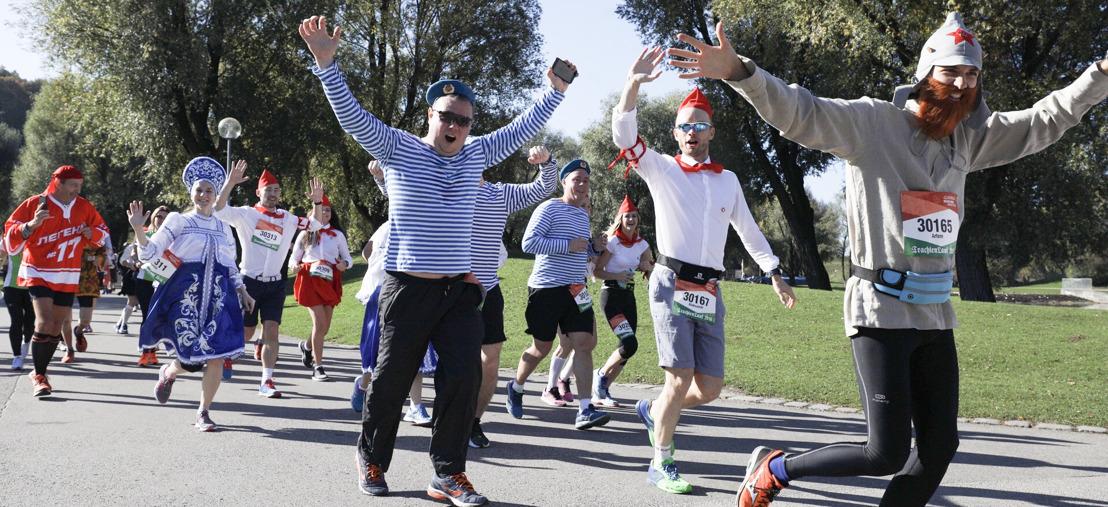Mit Tracht und Turnschuhen zum Auftakt des Marathonwochenendes