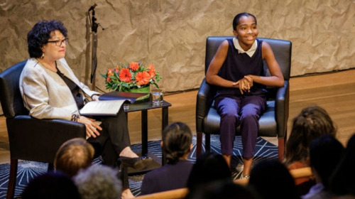 Sotomayor chats with teen star of 'What the Constitution Means to Me'