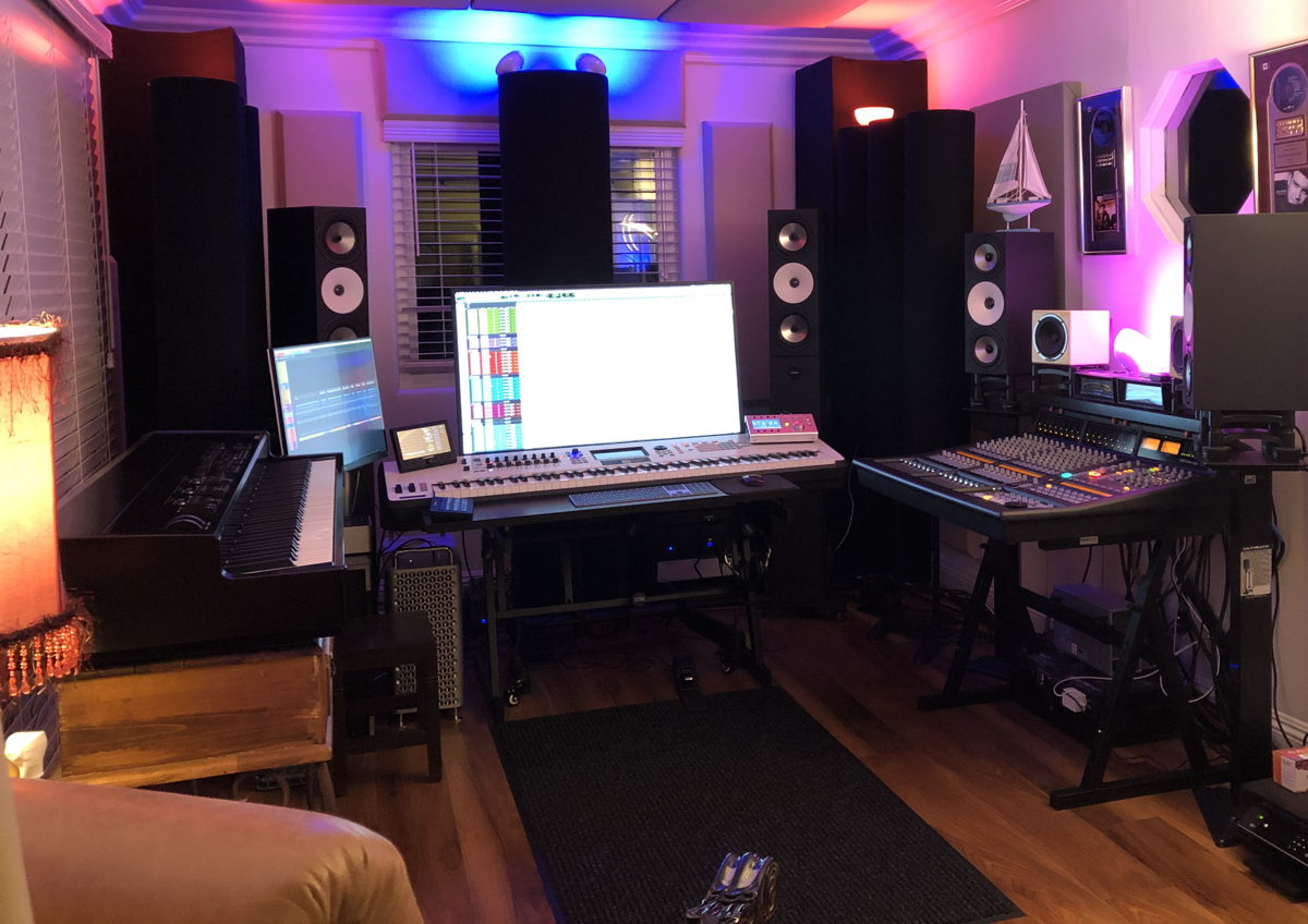 Dean uses Amphion Two15 monitors and an Amphion Two18-BaseOne25 Bass Extension System
