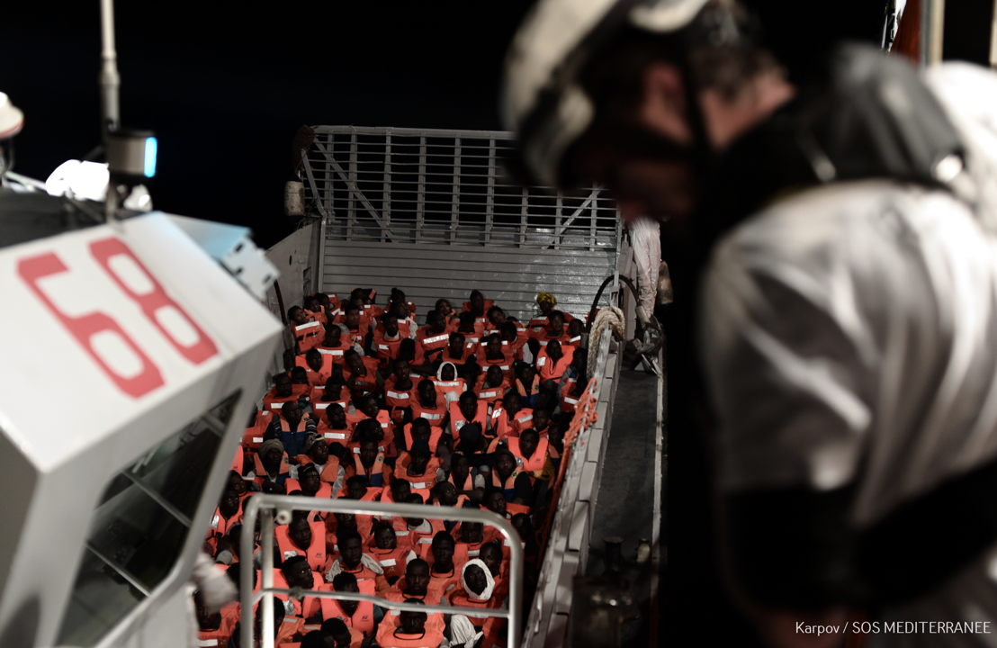 Doctors Without Borders (MSF) is urging European Member States to facilitate the immediate disembarkation of 629 people rescued over the weekend in Mediterranean and now onboard Aquarius, a dedicated search and rescue vessel run by SOS MEDITERRANEE in partnership with MSF. Aquarius remains in international waters off Malta and Italy, the countries with the closest ports of safety but which continue to refuse permission to dock.Photographer: Kenny Karpov