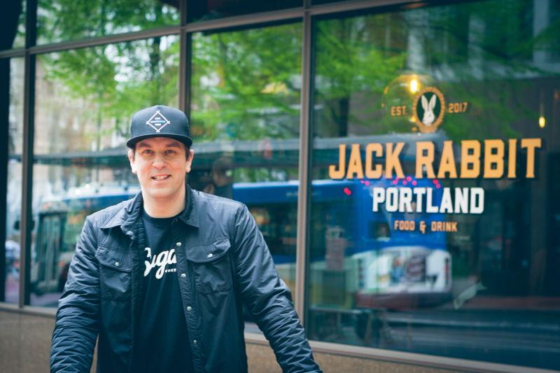 Chris DiMinno at Portland restaurant Jack Rabbit