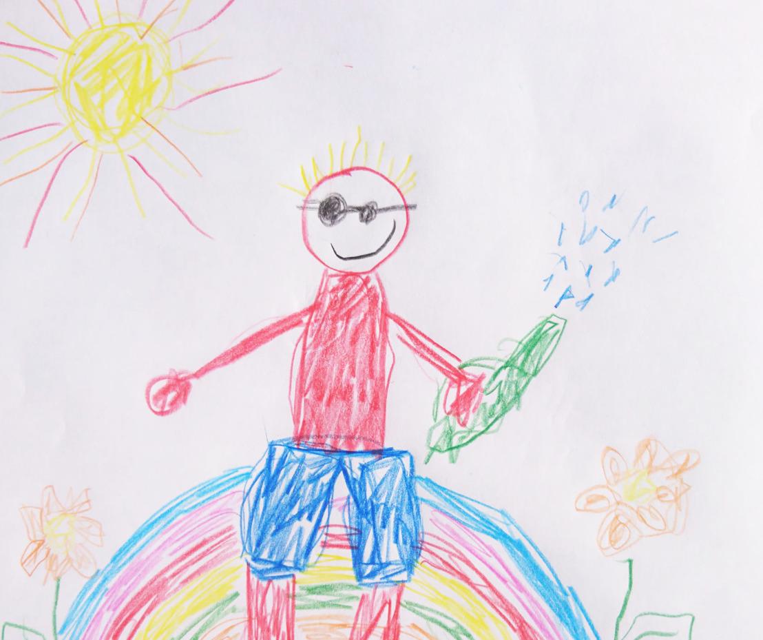 De DreamLand vakantiefolder wordt getekend door kinderen