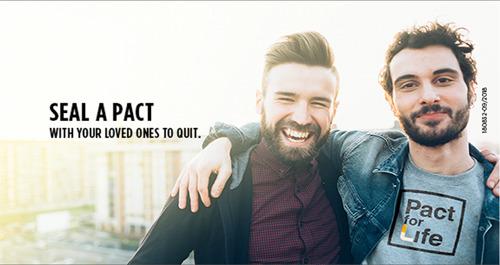 #PactforLife: een pact van 1 maand om 5 keer meer kans te hebben om definitief te stoppen met roken