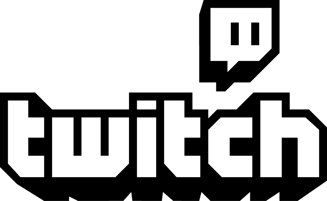 Twitch Logo Combo Black