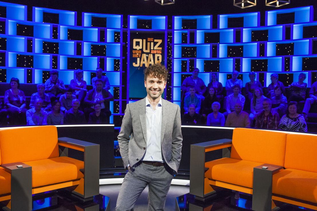 Thomas Vanderveken in De quiz van het jaar.<br/>(c) VRT