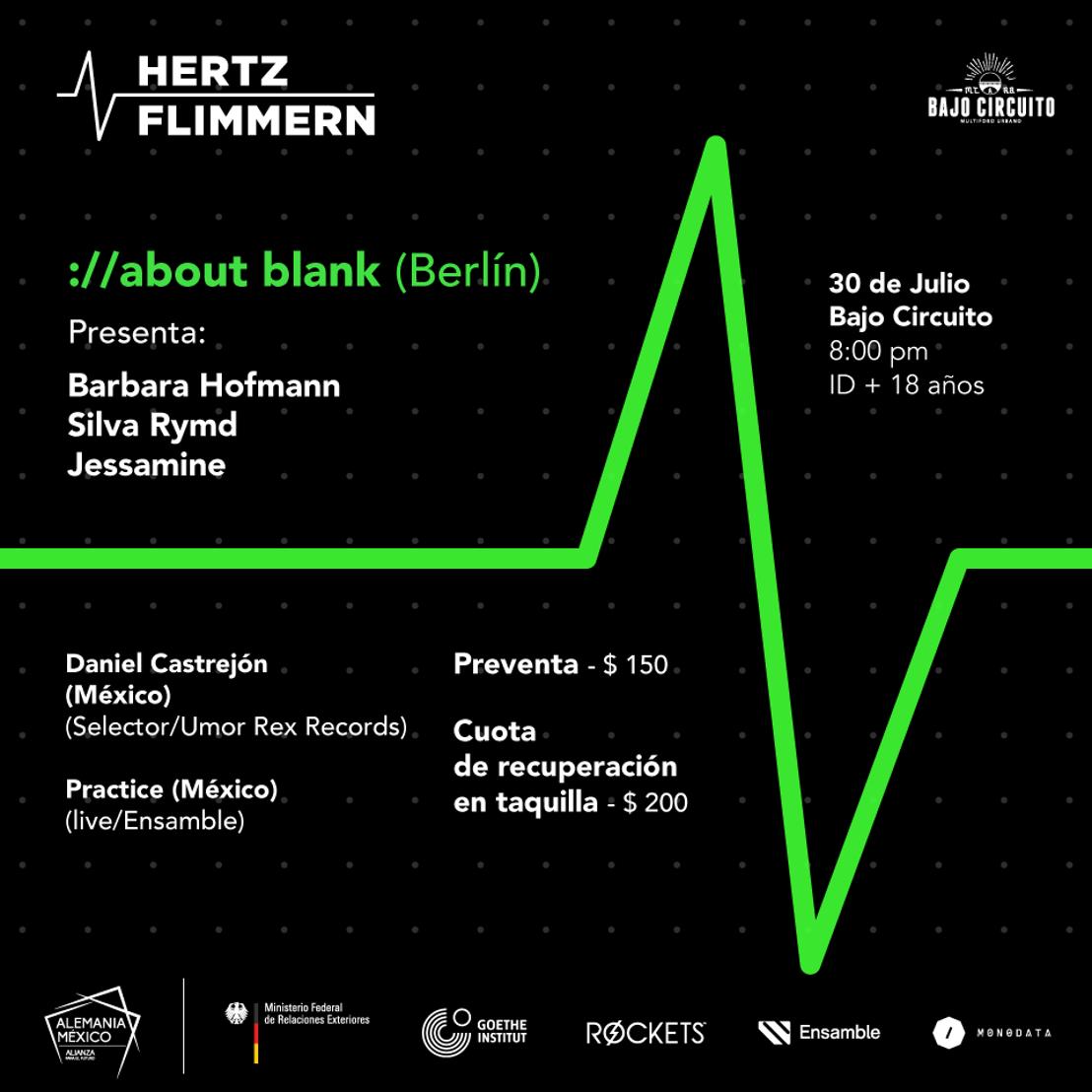 HERTZflimmern presenta  ://about blank