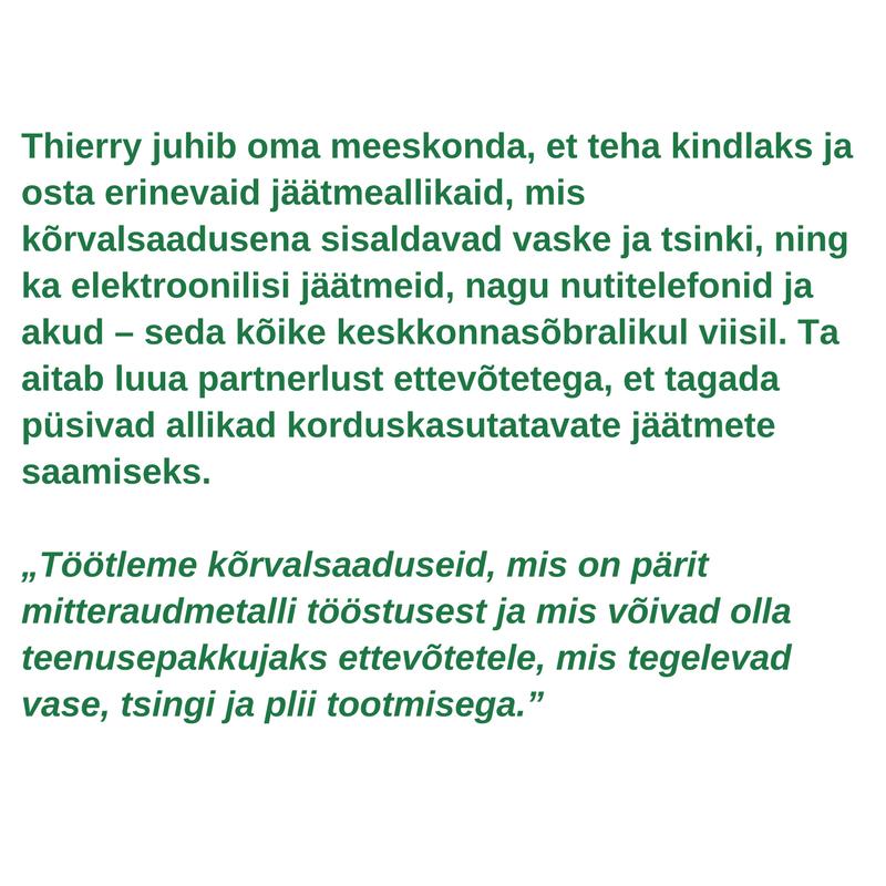 Rohelise töötaja profiil - Thierry van Kerckhoven