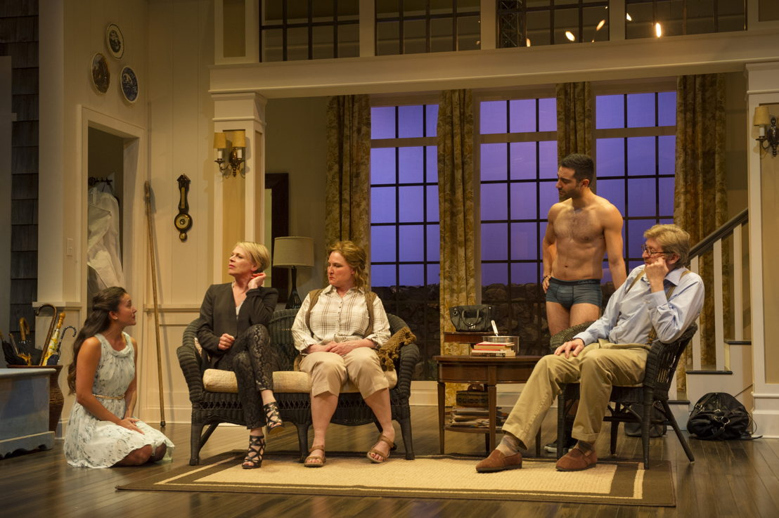 Yoshié Bancroft, Brenda Robins, Deborah Williams, Lee Majdoub and R.H. Thomson in Vanya and Sonia and Masha and Spike by Christopher Durang / Photos by David Cooper