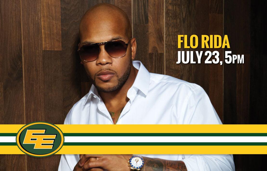 Flo Rida to perform during Nissan halftime when the Edmonton Eskimos take on the Hamilton Tiger-Cats this Saturday, July 23.