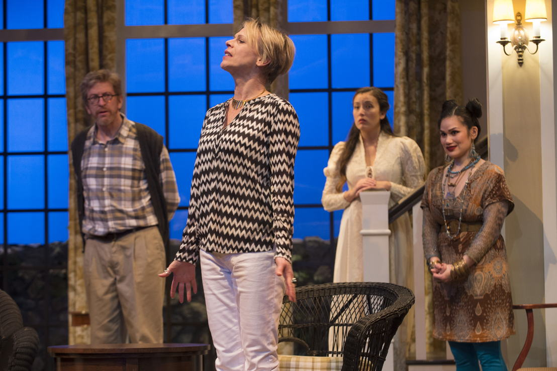 R.H. Thomson, Brenda Robins, Yoshié Bancroft and Carmela Sison in Vanya and Sonia and Masha and Spike by Christopher Durang / Photos by David Cooper