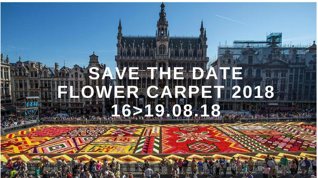 Save the date: Brusselse Bloementapijt deze zomer uitgerold van 16 tot 19 augustus