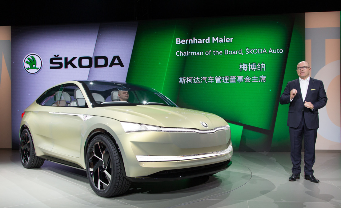 ŠKODA looks to the future: ŠKODA VISION E study celebrates world premiere at Volkswagen Group Night in Shanghai