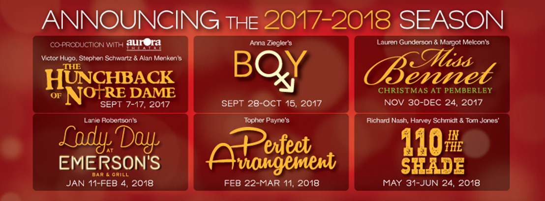 ANNOUNCING THEATRICAL OUTFIT'S 2017-2018 SEASON OF CHARACTER