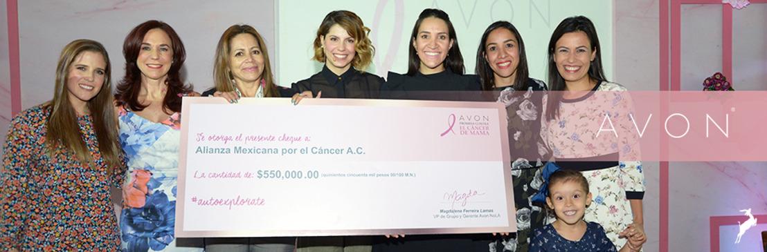 Avon dona más de 8 millones de pesos para la lucha contra el Cáncer de Mama
