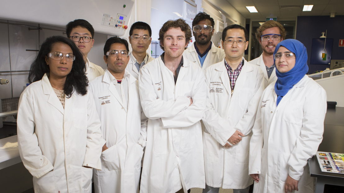 The Research School of Chemistry team (Dr Zongyou Yin is third from the right). Image credit: ANU