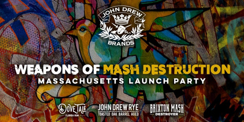 John Drew Brands distribution goes live in Massachusetts and Rhode Island with launch of Brixton Mash Destroyer, Dove Tale Rum, and John Drew Rye in Partnership with MS Walker