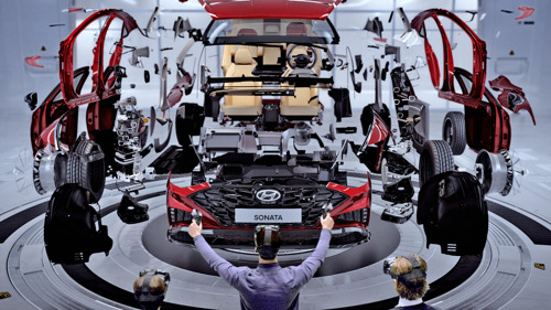 Virtual Reality macht es möglich: Der Hyundai von morgen fährt, bevor er gebaut wird