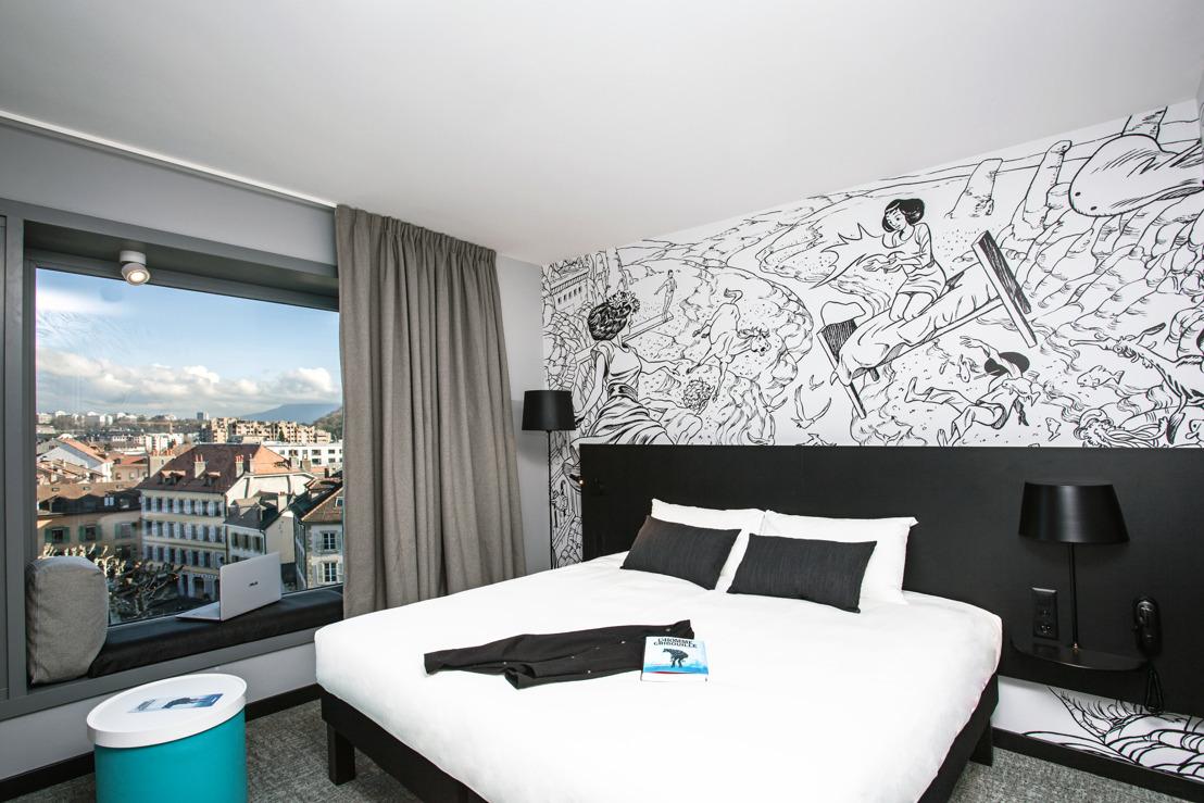 C'est pô une blague! Ibis Styles inaugure à Carouge le premier hôtel entièrement dédié à la bande dessinée