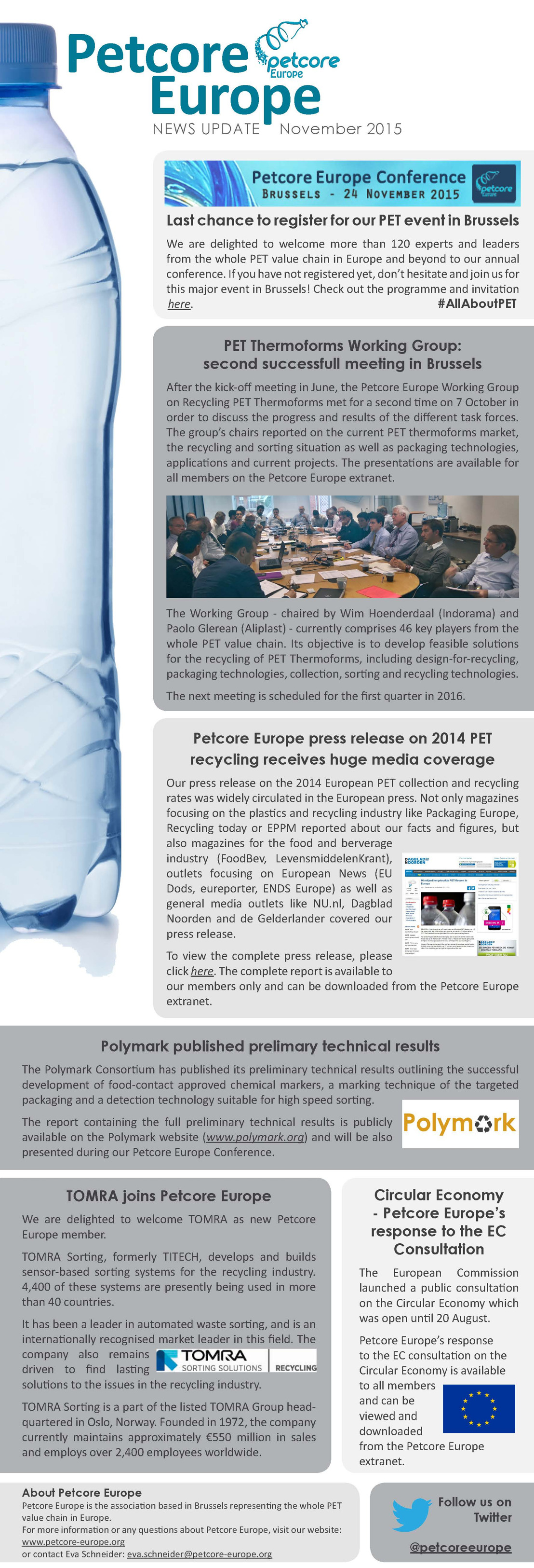 Petcore Europe News Update - November 2015