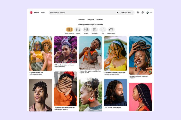 Pinterest presenta la novedosa función de búsqueda por tipo de cabello para obtener resultados inclusivos de belleza