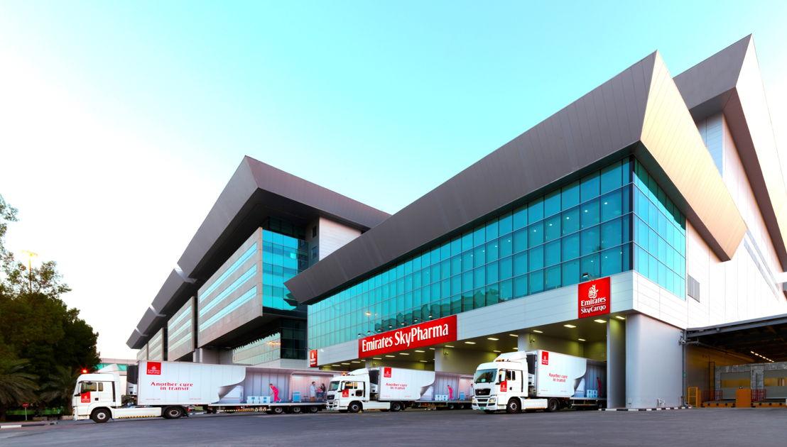 """""""الإمارات سكاي فارما"""" هي حلول الإمارات للشحن الجوي المتكاملة لنقل منتجات الأدوية الحساسة للحرارة."""