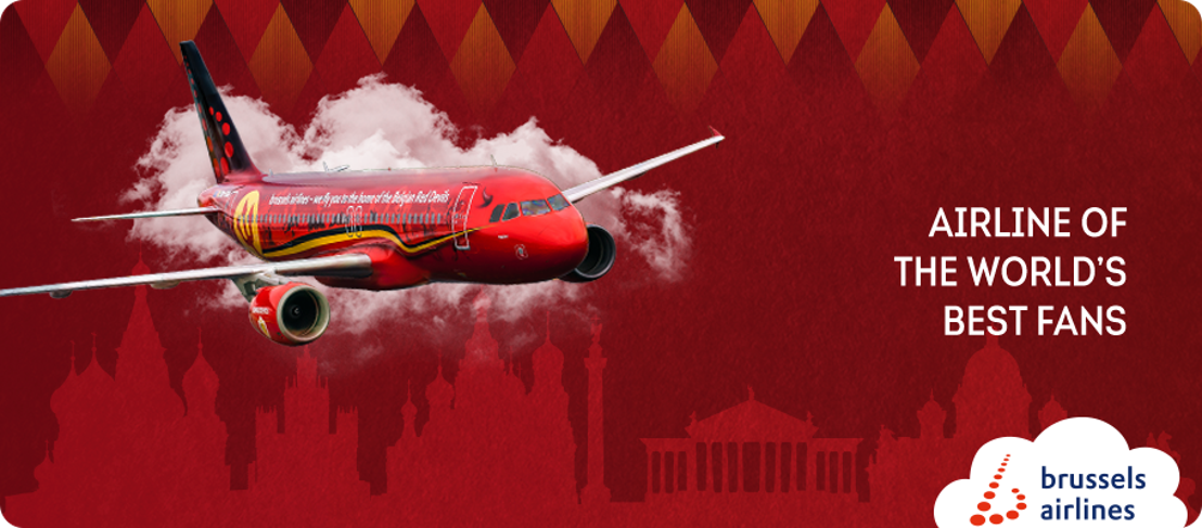 Brussels Airlines flies Red Devils fans to the World Cup in Russia.