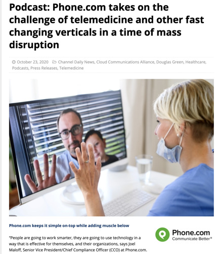 Podcast: Phone.com takes on the challenge of telemedicine and other fast changing verticals in a time of mass disruption