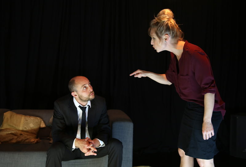 The Emissary with Andrew Laubscher and Emily Child - credit Nardus Engelbrecht Cape Town Fringe 2016