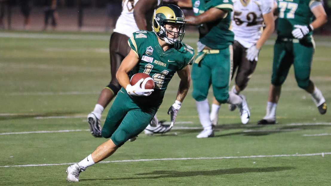 FB: Rams receiver, key performers from Manitoba-Sask. thriller honoured
