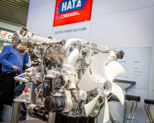 Hatz presents H-series diesel engines at the Cemat Asia