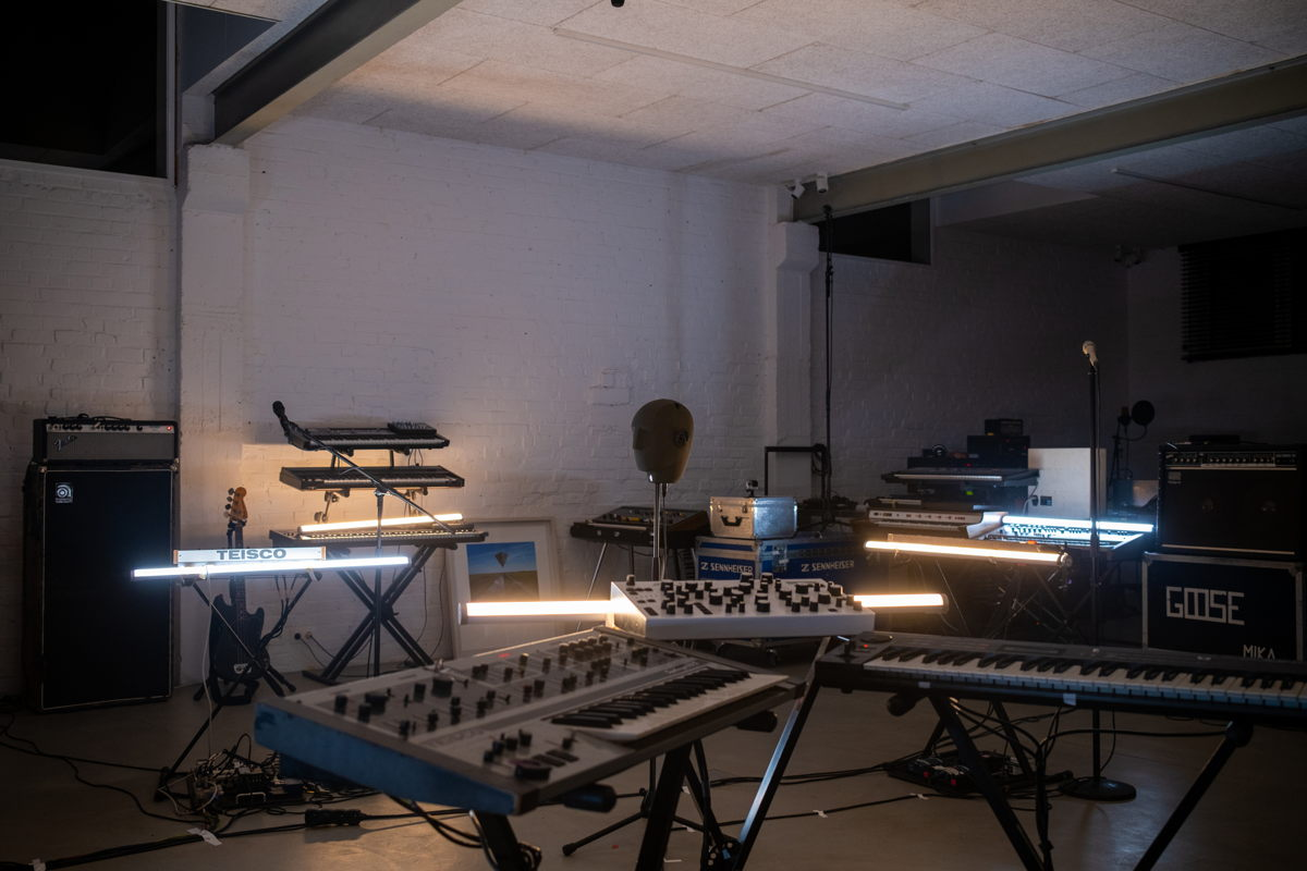 The GOOSE set-up in the Safari Studios Picture courtesy of Universal Music Belgium