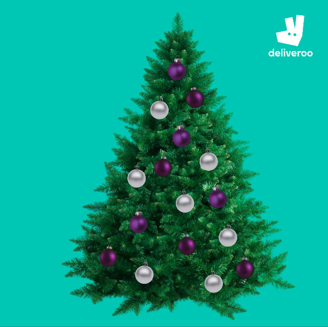 Eetbare kerstboom van Deliveroo siert Brusselse kerstmarkt