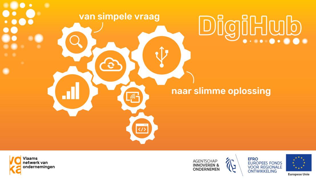 Elke ondernemer met vragen rond digitalisering welkom in Voka Digihubs
