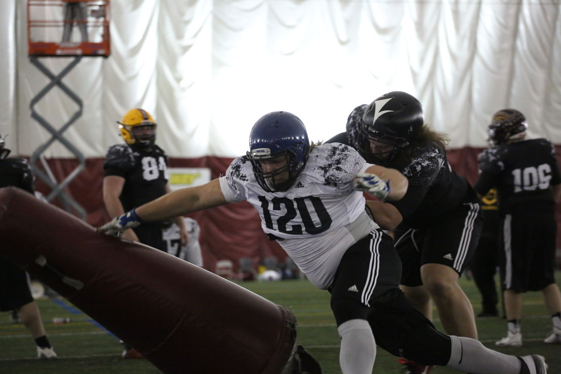 Mathieu Dupuis at the Eastern Regional Combine presented by adidas. Photo credit: Briana Thicke/CFL.ca