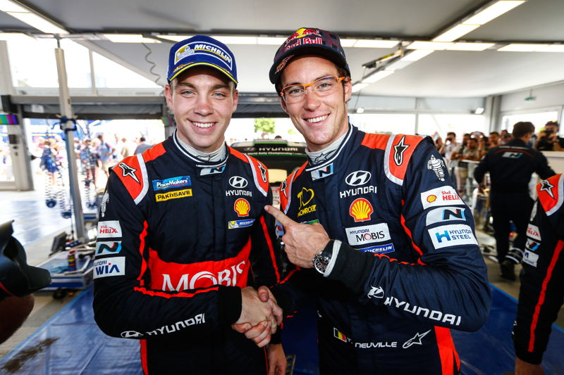 Hayden Paddon & Thierry Neuville