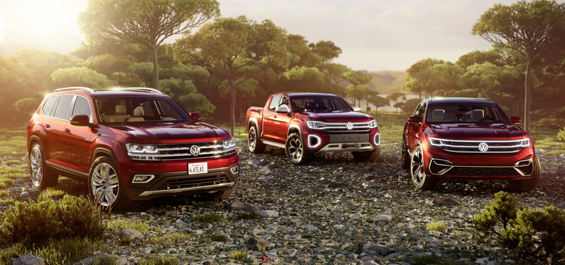 Double premiere in New York: Volkswagen presents the Atlas Cross Sport and Atlas Tanoak concept cars