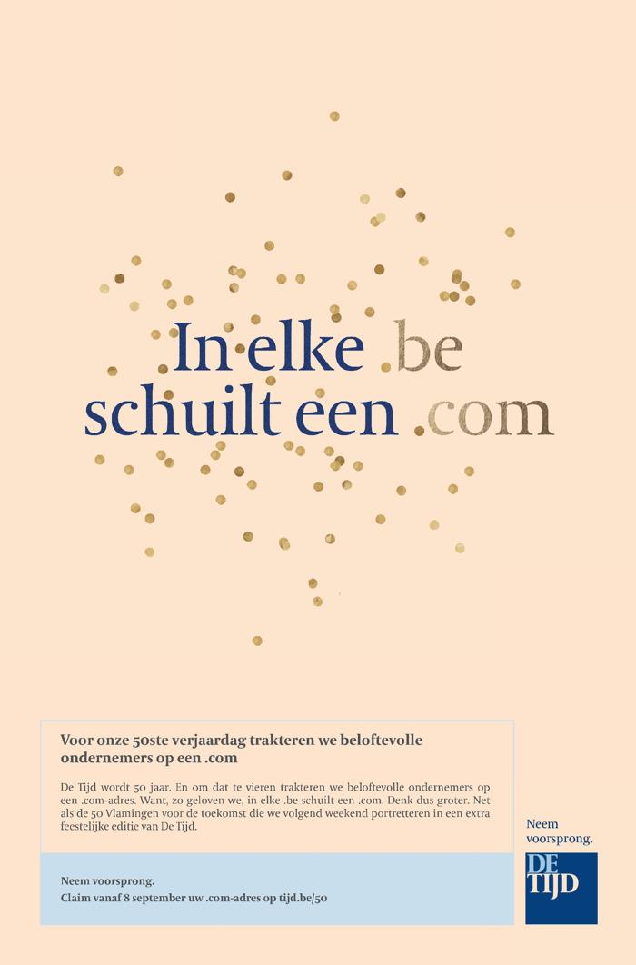 De Tijd en FamousGrey trakteren Vlaamse ondernemers op een .com