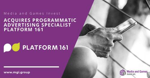 Media and Games Invest erwirbt Spezialisten für programmatische Werbung Platform 161, sowie restliche Minderheitsanteile ReachHero