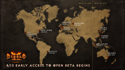 Diablo II: Resurrected sera disponible en bêta ouverte le week-end du 20 août