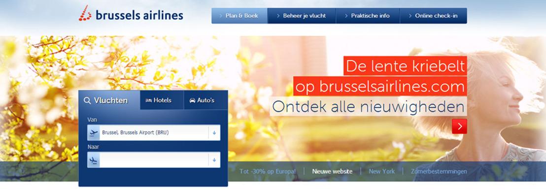 Brussels Airlines lanceert nieuwe website