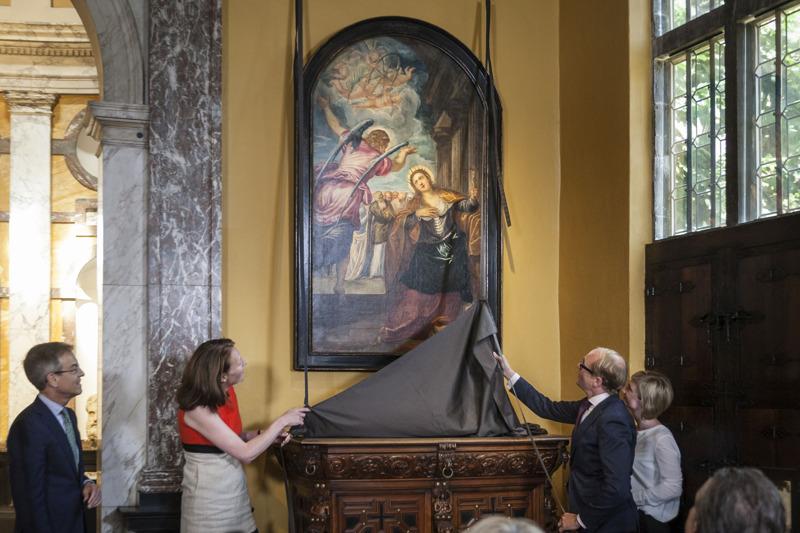 Onthulling David Bowie's Tintoretto door Caroline Bastiaens and Ben Weyts @ Ans Brys