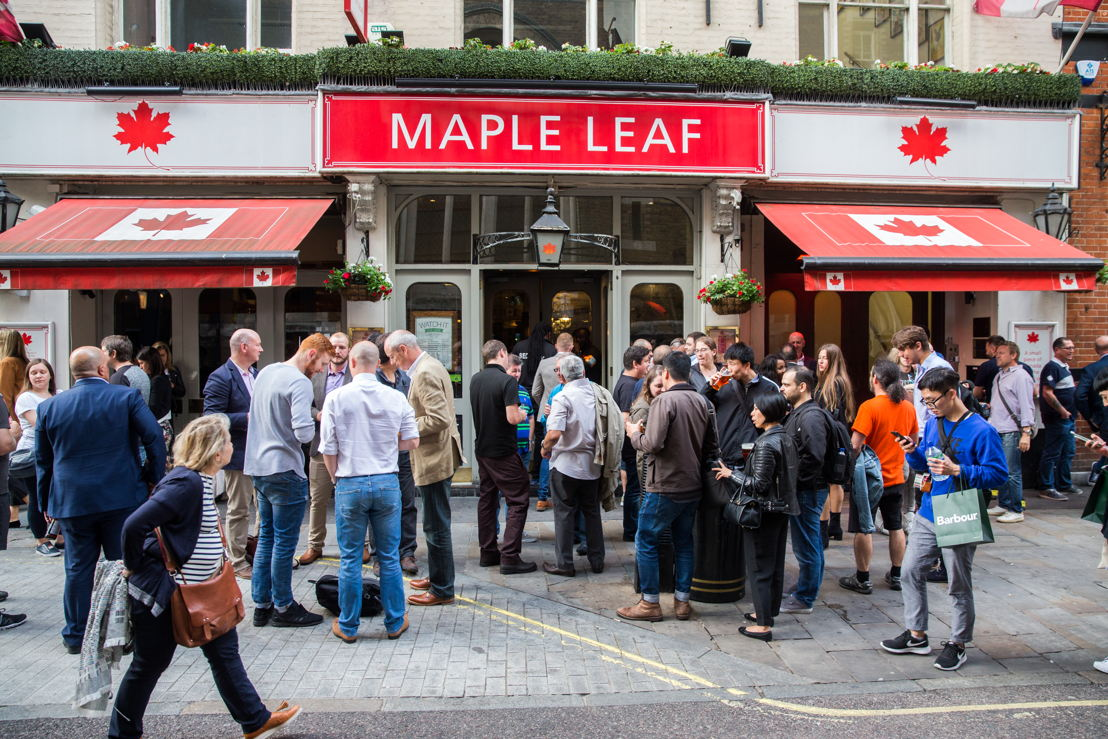 Maple Leaf Sports Bar and Grill in central London. Photo Credit: Jim Ross/CFL