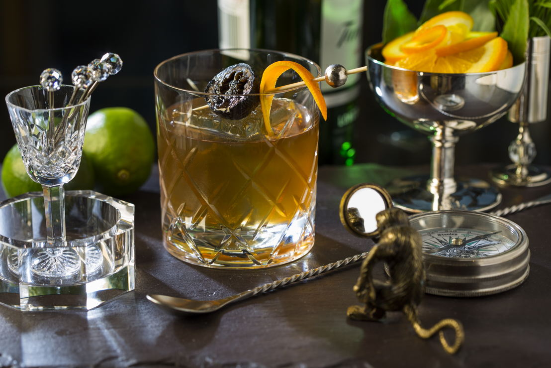 Hand crafted classic cocktails are characterized by fresh and exotic flavors