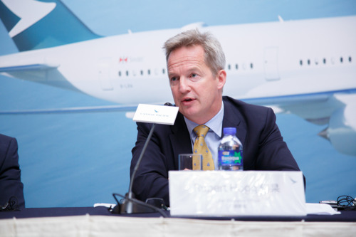 Cathay Pacific CEO talks to Bloomberg Television