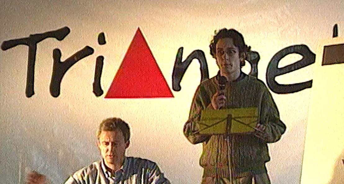 30.1.1997 : Het tv-debuut van Vincent van Quickenborne - (c) VRT