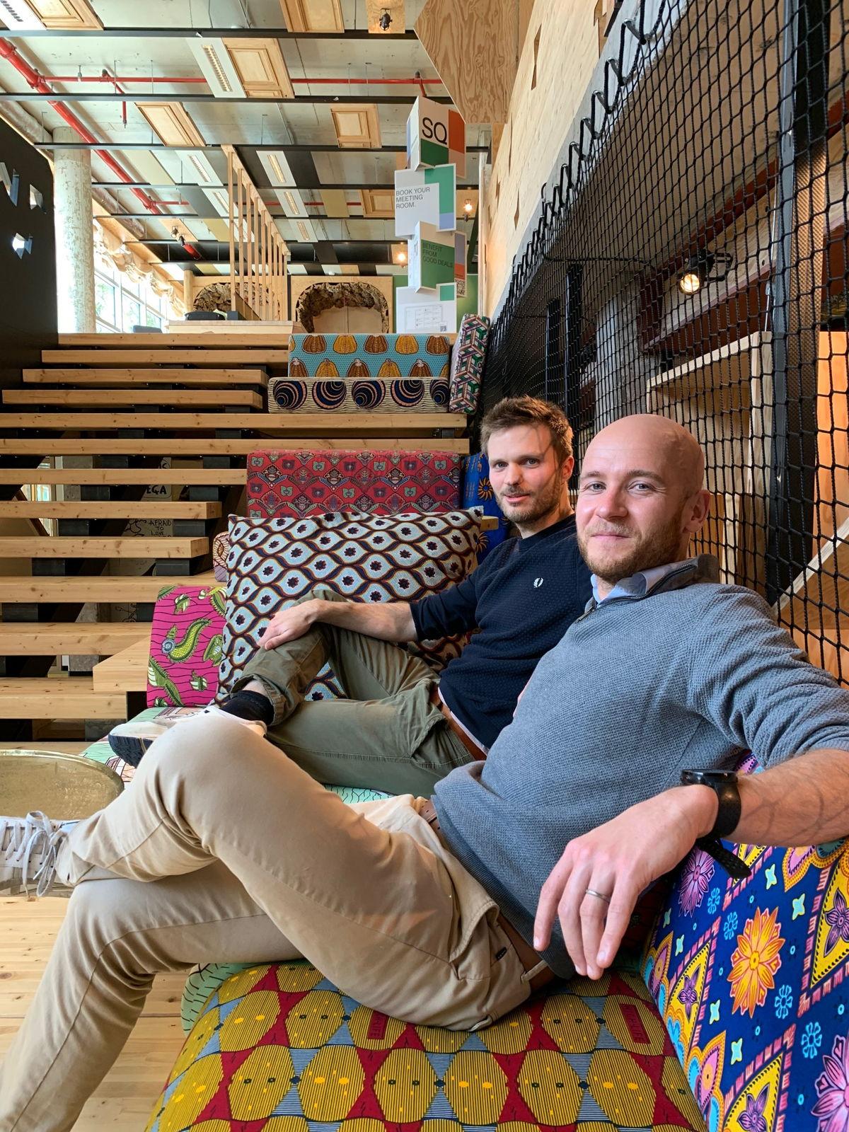 Baptiste Michiels et Martin Bragard, co-fondateurs Websie