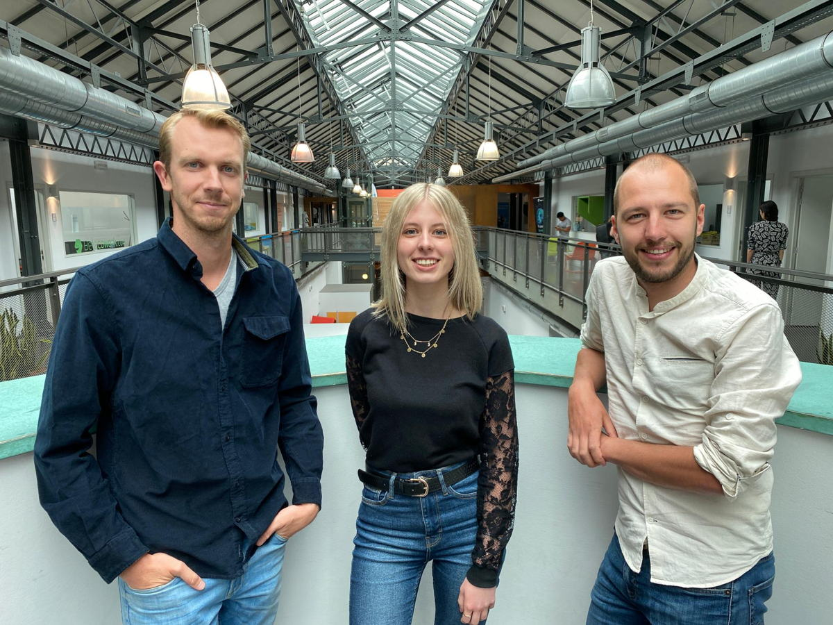 Vlnr: Corneel Haine, Steffy Bruyninx en Jesse Huybrechts