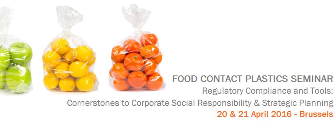 Food Contact Plastics Seminar 2016