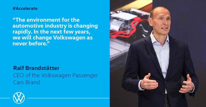 Volkswagen is accelerating transformation into software-driven mobility provider
