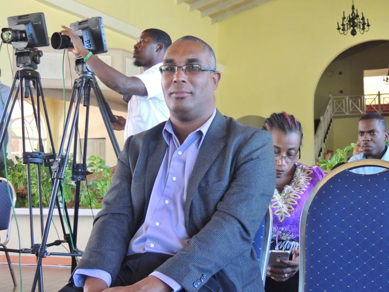 Allister Mounsey of the Economic Development Unit of the OECS was a contributing panelist